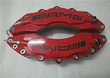 "Engineering Plastic Red AMG Brake Caliper Covers 11"" Front for Universal Car"