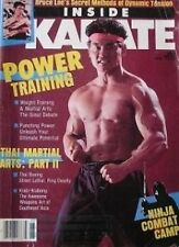 RARE 6/86 INSIDE KARATE PETER LIU KRABI-KRABONG BLACK BELT KUNG FU MARTIAL ARTS