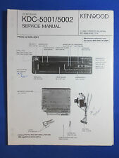 KENWOOD KDC-5001 5002  CD PLAYER CAR AUDIO SERVICE MANUAL ORIGINAL FACTORY ISSUE