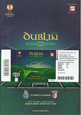 2011 europa league final porto v sc braga programme & ticket excellent état