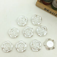 New 40pcs Resin Rose Flower 12mm Flatback Scrapbooking For DIY Phone Craft White