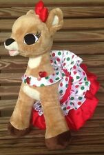 Rudolph Red-Nosed Reindeer Clarice Light Up Heart Christmas Dress Build A Bear