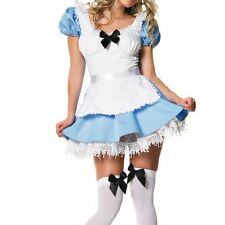 Maid Uniform Alice in Wonderland Clothing Cosplay Costume Game Suits + T-back