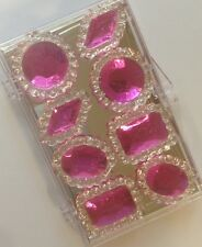 Pack of 8 Edible Sugar Cake Cupcake Jewels Brooch Diamond Decoration HOT PINK