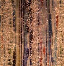 S HARRIS Brushstroke Velvet Teal Blue Orange Remnant New