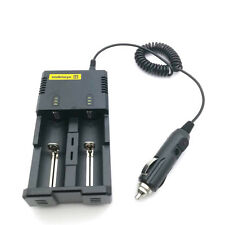 Car Charger cable For Nitecore I2/I4/D2/D4 Battery charger