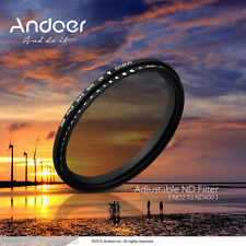 52mm ND Fader Neutral Density Adjustable ND2 a ND400 Variable Filter Canon DSLR