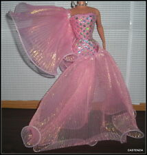 DRESS BARBIE MATTEL  CLASSIQUE EVENING EXTRAVAGANZA DOLL PINK & SILVER GOWN