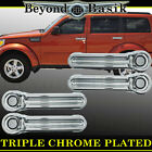 JEEP WRANGLER 07-16 Triple Chrome Door Handle Covers Overlays trims caps 4doors