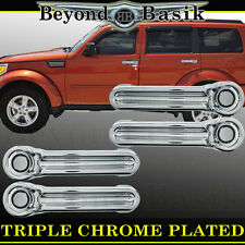 2007-2016 JEEP WRANGLER ABS Triple Chrome Door Handle Covers Overlays trims caps