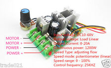 1200W DC motor speed controller 12V ~ 48V power drive module PWM controller 20A