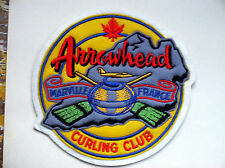 RARE Vintage Curling Club Patch -Canadian Arrowhead Marville France Curling Club