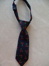 baby boys NECK TIE accessories CHRISTMAS holly leaves NAVY velcro PHOTO PROP