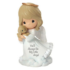 $ PRECIOUS MOMENTS Figurine YOU'LL ALWAYS BE MY LITTLE ANGEL Statue DOG HEAVEN
