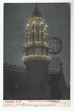 [40947] 1906 POSTCARD PRUDENTIAL INSURANCE TOWER AT NIGHT, NEWARK, NEW JERSEY