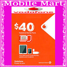 Vodafone◉$40 Credit Prepaid SIM CARD◉Unlimited Calls & Text◉5GB Data◉BULK BUY◉