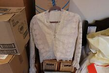 BEAUTIFUL LACY WHITE / IVORY LONG SLEEVED TOP, SIZE 10