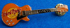 TOKYO JAPAN ORANGE CLEAR RESIN GIBSON LES PAUL GUITAR Hard Rock Cafe PIN LE100