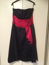 MONSOON BLACK COCKTAIL / PARTY / PROM BUSTIER STYLE DRESS SIZE 14