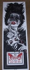THE RAVEN Edgar Allen Poe poster print Rhys Cooper Silkscreen Art n/150