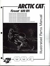 2004  ARCTIC CAT SNOWMOBILE FIRECAT 600 EFI PARTS MANUAL P/N 2256-903  (684)