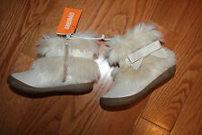 NWT Gymboree Polar Pink Size 9 Gold Shimmer Faux Fur Boots Booties Shoes