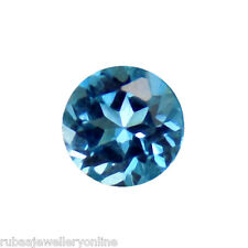 4mm ROUND FACETED GENUINE LONDON BLUE TOPAZ LOOSE GEMSTONE