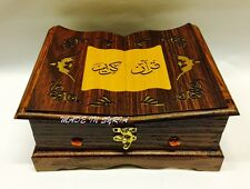 QURAN WITH WOODEN BOX WITH QURAN HOLDER 20 X 18 MADEIN SYRIA