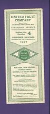 1927 Great White Fleet Proposed Sailings Brochure - United Fruit Company