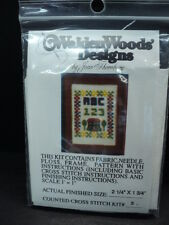 DOLLHOUSE CROSS STITCH PICTURE KIT/ ABC'S / # 3