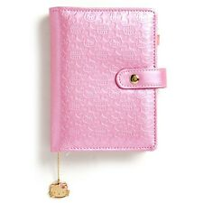 2017 Hello Kitty 6-Rings Schedule Book Agenda Planner Embossing Pink
