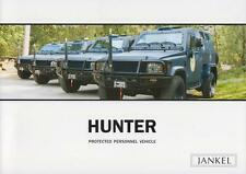 JANKEL HUNTER PROTECTED PERSONNEL VEHICLE 2011 4x4 MILITARY BROCHURE PROSPEKT