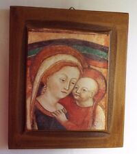Our Lady of Good Counsel Image on Brown Frame, New from Italy