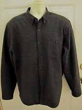 J.Crew Men's Shirt XL Heathered Charcoal dark Gray Chamois Leather Elbow Patch