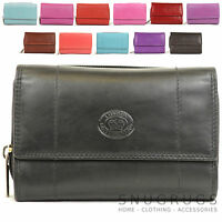 LADIES SOFT NAPPA LEATHER PURSE ZIP AROUND WITH FRONT FLAP