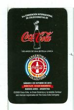 Single Playing Card NEW, Coca Cola Collectors Covention Argentina 2008 Black