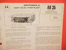 1975 MOTOROLA CAR AUTO PUSHBUTTON AM-FM RADIO SERVICE SHOP MANUAL MODEL 5FM216A