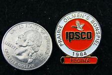 PRAIRIE OILMEN'S BONSPIEL IPSCO REGINA 1984 LAPEL PIN