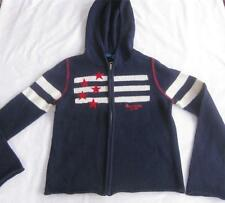 American Girl Child L Hoody Cardigan Sweater Flag Blue White Stripes Red Stars