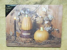 Pumpkin Spice Ginger Fall Candle Lighted Canvas Wall Decor Sign BillyJabocs