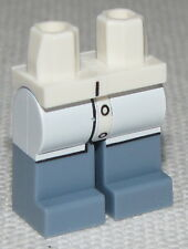 Lego New White Hips and Sand Blue Legs with White Lab Coat Minifigure Pants
