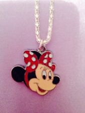 1 Retro Red polka dot minnie mouse necklace