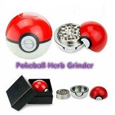 Cute Pokeball Pokemon Go 3 Layer Tobacco obacco Herb Spice Alloy Grinder 55mm