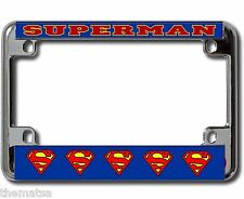 SUPERMAN CLASSIC MOTORCYCLE CHROME  LICENSE PLATE FRAME MADE IN USA