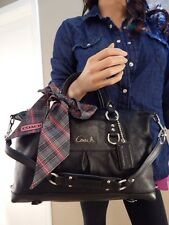 Coach Ashley Black Leather Shoulder Hand Bag Satchel Purse Tote EUC 15445 $398
