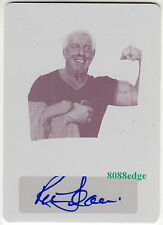 2015 POP CENTURY PRINTING PLATE AUTO: RIC FLAIR #1/1 OF ONE STAR POWER AUTOGRAPH