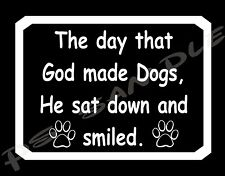GOD MADE DOGS - Flexible Fridge MAGNET