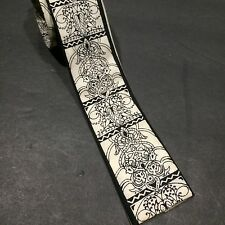 Mens Skinny Tie Square End Wembley Navy Rockabilly Hipster Art Deco Vtg Props