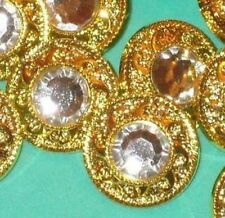 RHINESTONE Set 14 FLOWER Fancy Buttons 7/8""