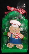 GINGERBREAD ORNAMENT (BLUE) W/COOKIE CUTTER & RECIPE!!!  RETIRED